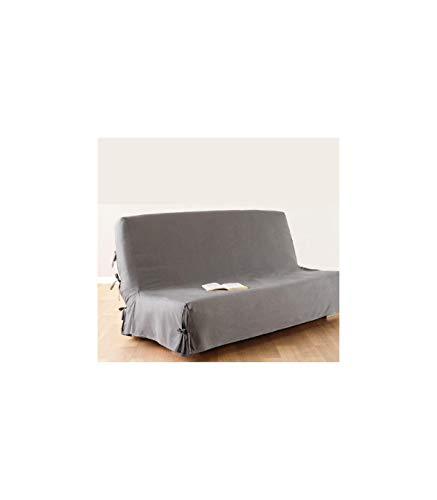 Atmosphera Funda de sofá Cama Clic-clac - 100% algodón - Color Gris Claro