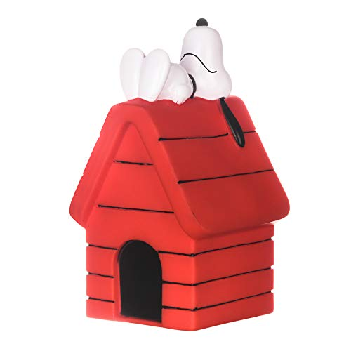 Peanuts Charlie Brown Snoopy on Dog House Vinyl Squeaker Dog Toy | Squeaky Dog Toy for All Dogs | Charlie Brown Plastic Dog Toys for Aggressive Chewers - Fun and Cute Dog Chew Toy