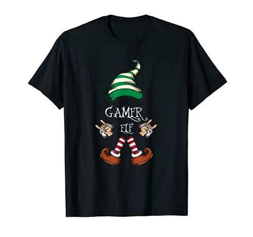 Juego de Navidad Elf Familia Pijama Gamer Elf Camiseta