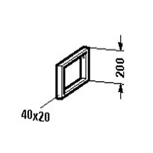 Duravit Vero Konsolenträger-Handtuchhalter, 9903, 40x480 mm, Chrom