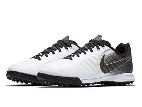 Nike JR Legend 7 Academy TF, Zapatillas de fútbol Sala Unisex niño, Blanco (White/Black 100), 28.5 EU