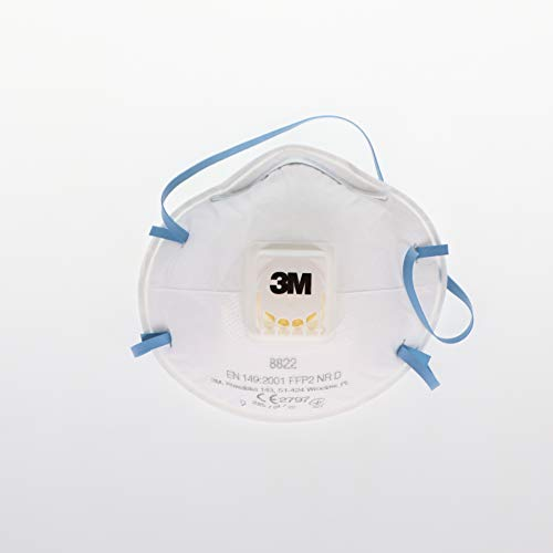 3M Deutschland GmbH 8822-PT Atemschutzmaske Klassik mit Ventil P2, Inhalt 10, blau, FFP2