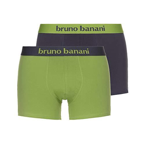 bruno banani Herren Short 2er Pack Flowing Boxershorts, Mehrfarbig (Schlamm/Kiwi 4006), X-Large