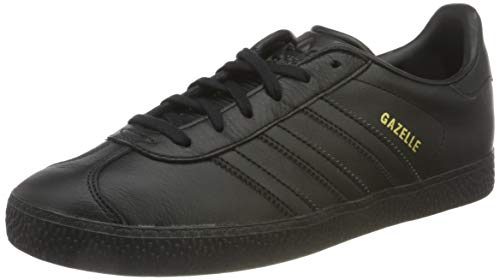 adidas Gazelle J, Zapatillas Unisex Adulto, Negro (Core Black/Core Black/Core Black 0), 37 1/3 EU