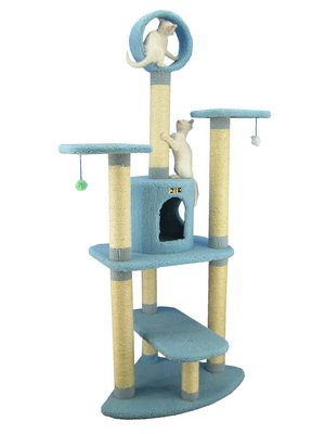 Armarkat 65-Inch Cat Tree, Model B6605, Sky Blue