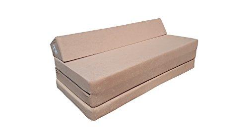 Natalia Spzoo Fold Out Sofa - folding mattress - 200 cm long (Beige)
