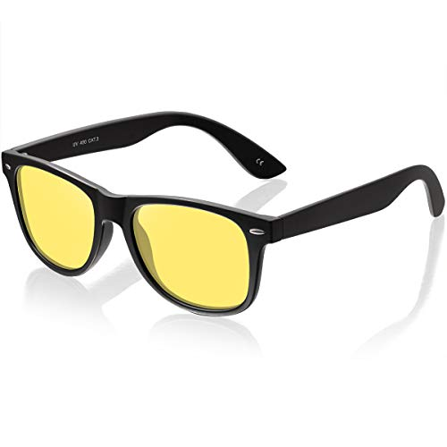 Night Vision Glasses for Driving - Feirdio HD night driving glasses anti glare polarized mens women glasses (yellow5)