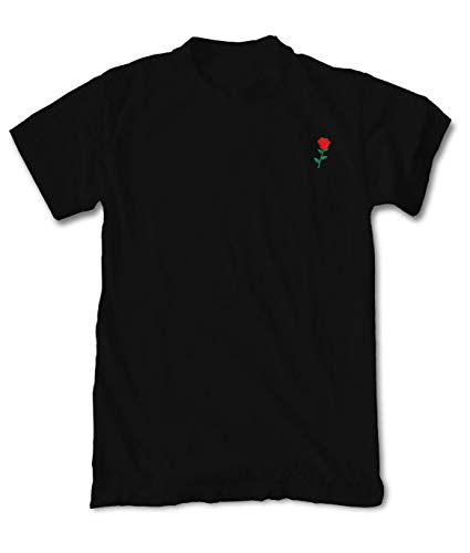 Riot Society Rose Embroidered Men#039s TShirt  Black 2XLarge