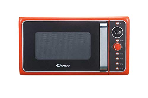 Candy DIVO G25CO Forno a Microonde con funzione Grill, 900W, 25 litri, Piatto rotante in vetro, Ø 27 cm, Colore Arancio