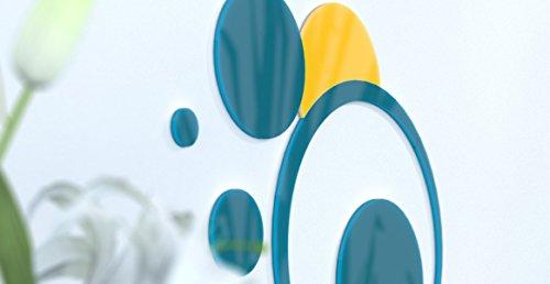 www.deco-julie.fr Déco de Bureau Bleue Canard et Jaune Personnalisable