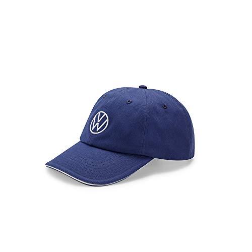 Volkswagen 000084300AT530 Basecap Kappe Cap Baseballcap blau, mit neuem VW Logo