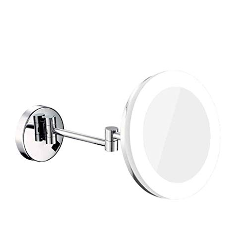 LHQ-HQ Espejo del Espejo sin Marco LED con luz Espejo telescópico Plegable Espejo Que cuelga Espejo de baño de Aumento for Montaje en Pared Xuan - Bien Vale la pena una Visita