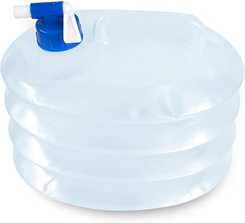 normani Faltkanister Faltbarer Wassertank mit Hahn in verschiedenen Größen Farbe 5 Liter