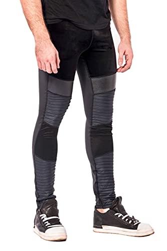 Kapow Meggings für Männer 'Supreme Range ' Deluxe Kompressions-Leggings mit Taschen (Supreme - Sabre, Medium)