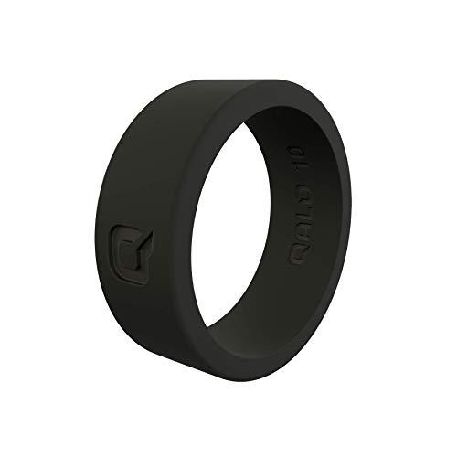 QALO - Anillo básico de Silicona para Hombre, Size 12, Negro