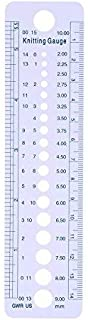 Plastic Knitting Needle Gauge Ruler Professional Inch cm Sewing Tools US UK Canada Sizes 2-10mm All in One Knitting Accessories