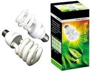 爬虫類スパイラル星雲UVB 5.0 - UVB光線を放射するコンパクト電球、5%、低消費電力26ワット
