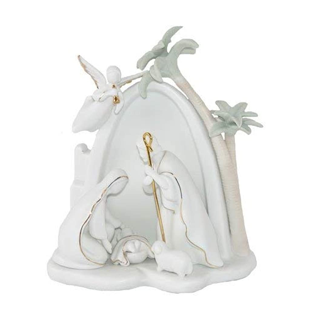 Appletree Design Bethlehem Holy Family Nativity, Lighted, 7-1/2-Inch Tall, Includes Light Bulb and Cord