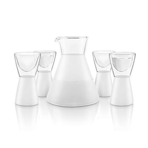 Final Touch - Juego de Vasos de chupito para Sake Todo en uno (5 Piezas, Incluye 1 decantador de Saké de 300 ML y 4 Vasos DE 14,7 ML)
