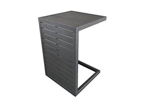 Proloisirs Lot de 2 Tables Basses Lou Side - 57 x 40 cm - Gris - Aluminium