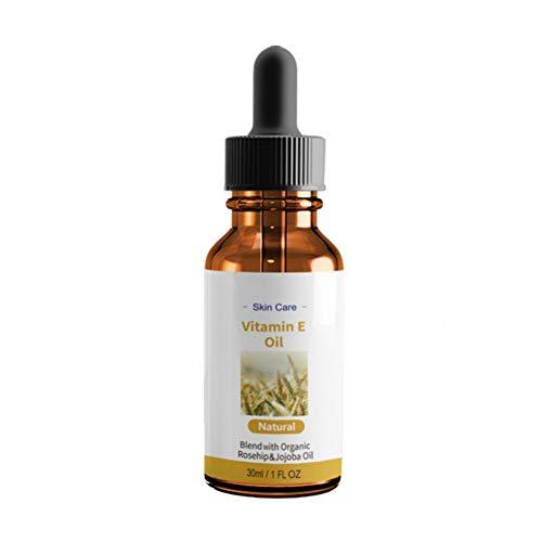 Natürliches Vitamin E Öl Pflegeöl, ideal für die Haut, Haare, Nägel und Lippen. Repariert und belebt die Haut und Narben, befeuchtet, stärkt und pflegt Hautfarbe Gesicht