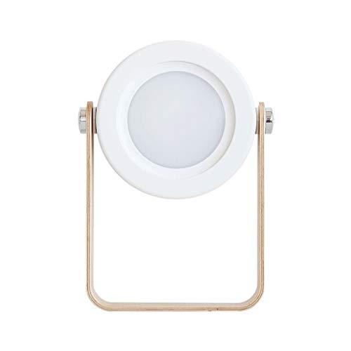 YIXIN2013SHOP Lámparas de Escritorio Linterna Lámpara de Lectura Estudiante de Carga de Mesa Lámpara portátil Lámpara al Aire Libre luz de la Noche Lámpara Mesilla de Noche (Color : White)