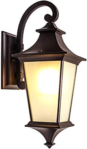 MLL Lámpara de Exterior Santorini, lámpara de Pared con iluminación de pavimento Nocturno IP42, decoración de Estilo Rural Americano Grande, lámpara Exterior de Pared con características de Agua para