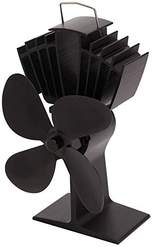 NAYY 4 Blades Herd Fan Wärme Powered Holz/Holzofen Fan Silent-Eco Friendly Wärmezirkulation for einen Kamin Fan