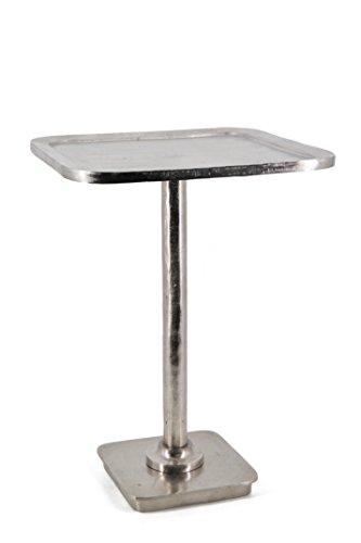 Moycor antieke bijzettafel 40x40x55 cm zilver.