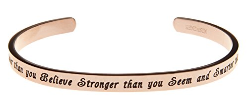 Kendasun Jewelry You are Braver Than You Believe Stronger Than You Seem...