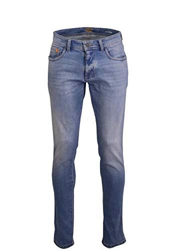 camel active Herren 5-Pocket Madison Straight Jeans, Blau, W34/L38 (Herstellergröße: 34/38)