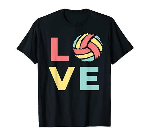 Divertido Voleibol Amor Para Voleibol Chica Regalo Camiseta