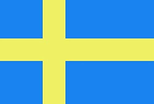 Gran Bandera de Suecia 150*90 cm Satén Sweden Flag Durabol