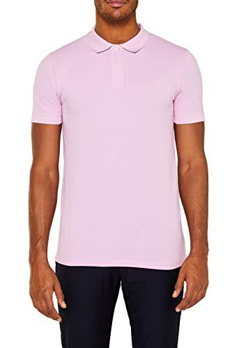 ESPRIT Herren 029EE2K034 Poloshirt, Rosa (Light Pink 690), Large (Herstellergröße: L)