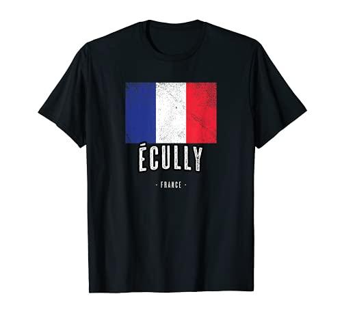 Ville de Écully - France | FR - Drapeau Français - T-Shirt