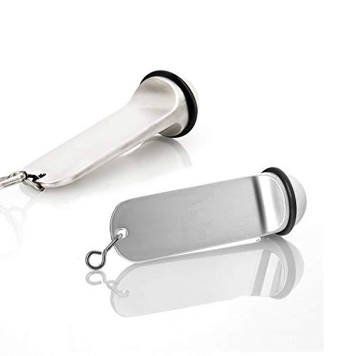 Faimex Hotel Schlüsselanhänger im Doppelpack Anhänger für Hotelschlüssel Schlüssel von Pension Hotels gravieren individuelle Gestaltung in edler Silberoptik mit Gummiring Gravur möglich Key