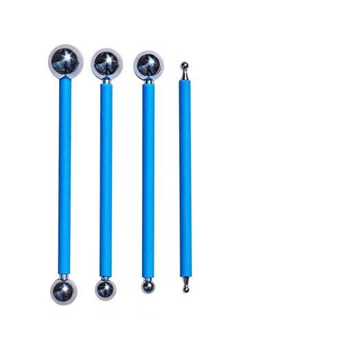 ADUCI 4pcs / Set Doble de Chapa de Acero del azulejo Bola Grout Reparación del palillo de cerámica del Piso de lechada de Cola Gap Scraping Instrumento de construcción