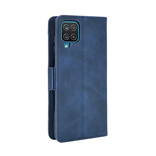 SOUFU Funda para Samsung Galaxy A02/M02 Funda,PU Cuero Flip Fundas Móvil de Tapa Libro con Effetto anticollisione e Anti para Samsung Galaxy A02/M02 Funda-Azul