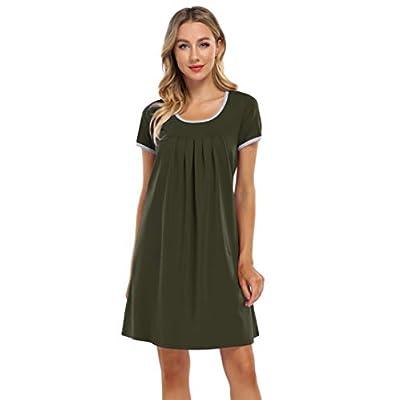 Coolmee Women's Nightgown Short Sleeve Scoo...