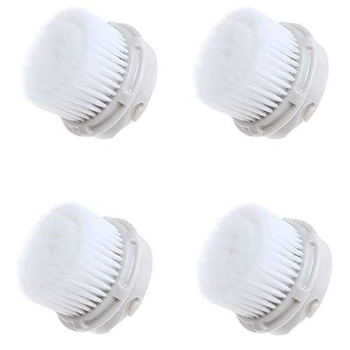 ACBP 4 cabezales de repuesto de cepillo de limpieza facial para exfoliante facial, bloqueo de agua suave y limpia