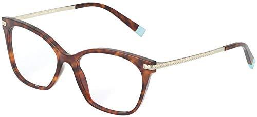Tiffany TF2194 Havana/Clear Cat Eye - Gafas de sol para mujer, 52 mm