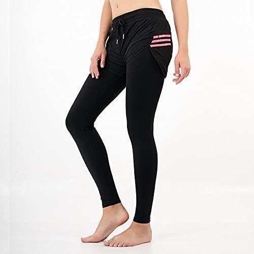 WUHUI Pantaloni da Corsa e da Yoga da Donna, Pantaloni Running Stretch Danza Pantaloni Fitness Outdoor Donna,-A_L, Sportivi Leggings Anticellulite Vita Alta Push Up Leggins