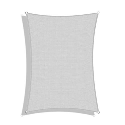 Windscreen4less 13' x 20' Sun Shade Sail UV Block Fabric Canopy in Light Grey Rectangle for Patio Garden Customized 3 Year Limited Warranty