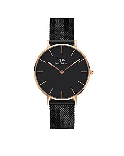Daniel Wellington Petite Ashfield, Reloj Negro/Oro Rosado, 36mm, Metálico, para Mujer y Hombre