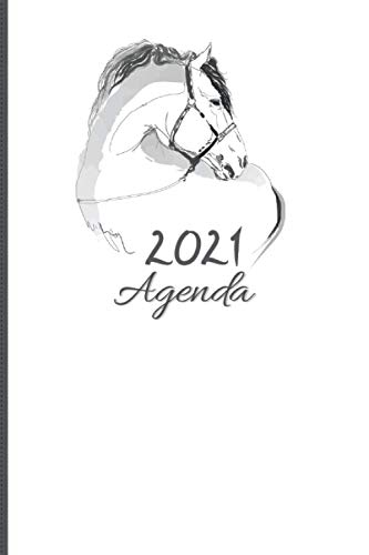 Agenda 2021 Cavalli: Planner Giornaliero, Mensile. Gennaio 2021 a dicembre 2021 con Calendari, To-Do, Contatti Pasti, Compleanno, Password, Lista Spesa etc.. 338 pagine - 15.24 x 22.86cm