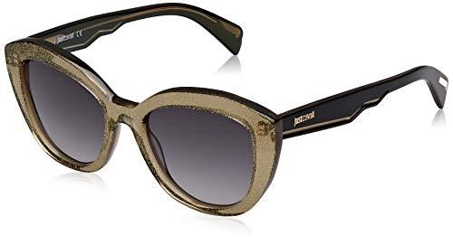 Just Cavalli JC864S Gafas de sol, Amarillo (Yellow/Other/Gradient Smoke), 52.0 para Mujer