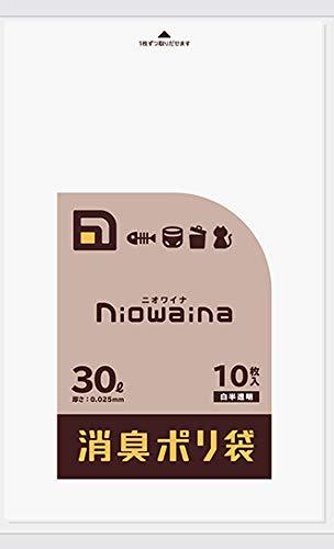 日本サニパック ごみ袋 ゴミ袋 ニオワイナ 消臭 白半透明 30L 10P