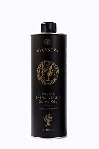 HUILE D OLIVE VIERGE EXTRA ITALIENNE pressée à froid de qualité supérieure AUGUSTUS édition de luxe 1 L (33.81oz)