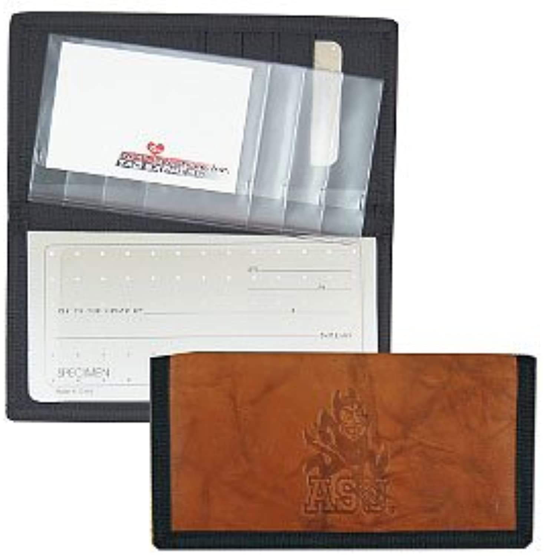 Arizona State Sun Devils Leder Leder Leder Nylon geprägtes Checkbook Cover B013HJDA6Q   Hohe Qualität und geringer Aufwand  87a2a2