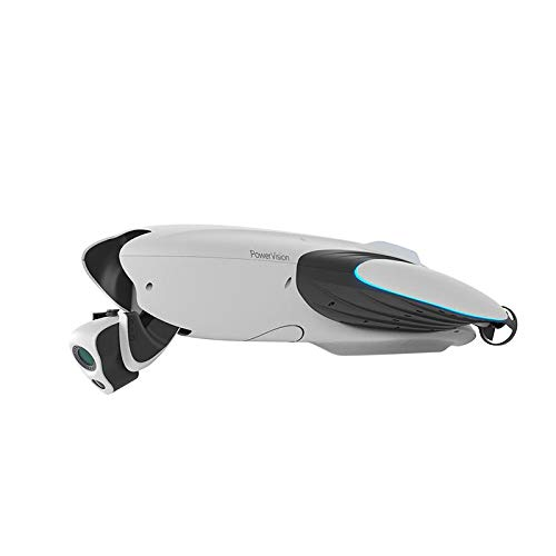 PowerDolphin - Drone con fotocamera 4K a doppio snodo standard a 220°, sicuro sulle superfici d'acqua.
